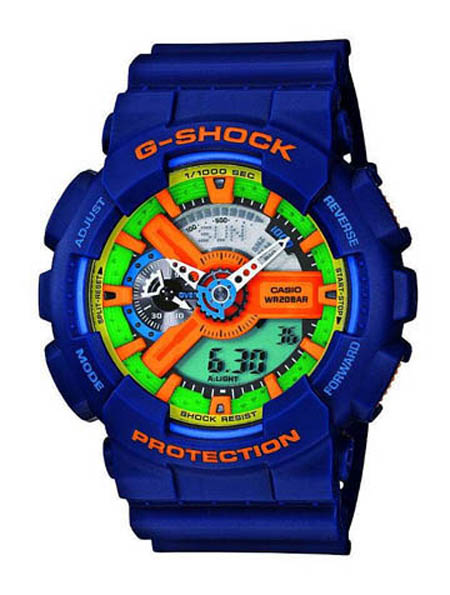 casio g shock ga 110fc 2aer g shock uhr watch navy blue blau. Black Bedroom Furniture Sets. Home Design Ideas