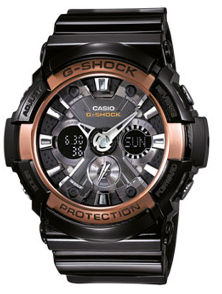 casio g shock ga 200rg 1aer rose gold g shock uhr watch montre. Black Bedroom Furniture Sets. Home Design Ideas