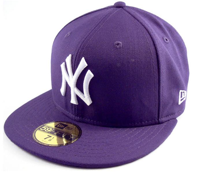 New Era NY New York Yankees Cap Purple Lila MLB 5950 Basic
