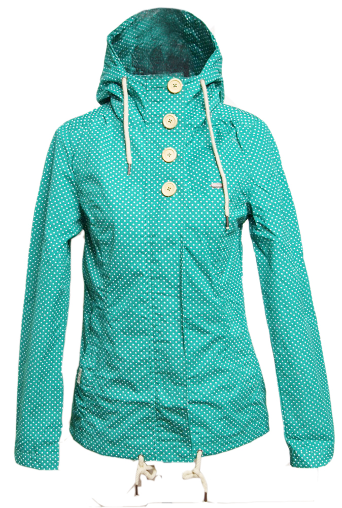 ragwear lynx dots jacket deep green mint womens jacke. Black Bedroom Furniture Sets. Home Design Ideas